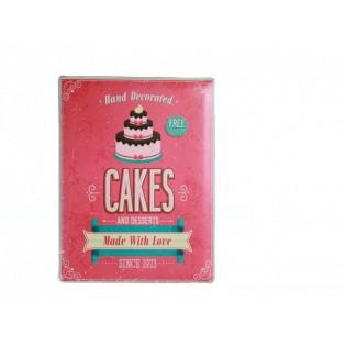 Kovová tabuľka Cakes
