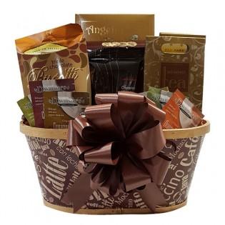 Darčekový kôš čokoláda - káva
