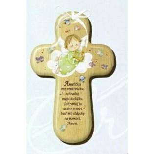 Drevený krížik s modlitbou